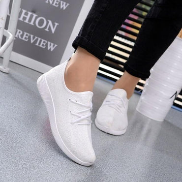 Breathable Shallow Mouth Women Concise Classic Flying Woven Shoes