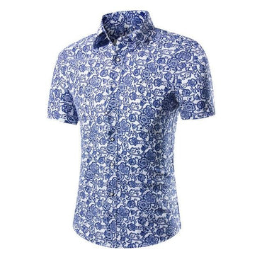 Men Hawaiian Fashion Short Sleeve Shirt