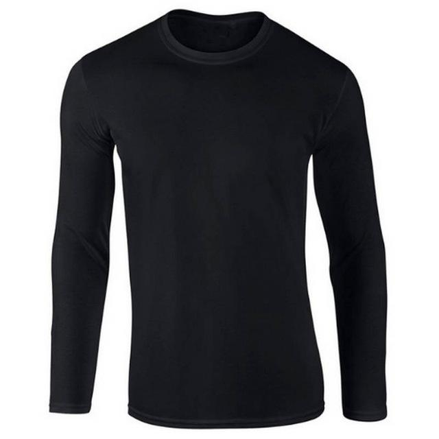 100% Cotton Men Fashion Long Sleeved O-Neck T-shirt