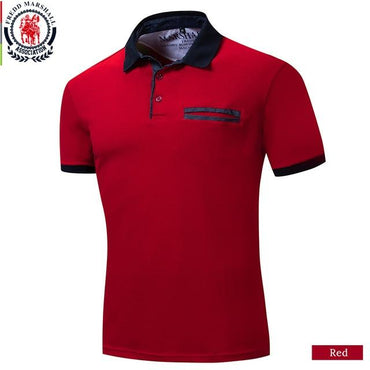 New Arrival 100% Cotton Men Fashion Short Sleeve Polo Shirt