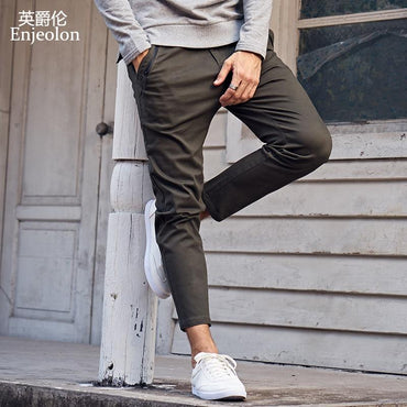 Top Brand Men Long Straight Solid Army Casual Pants