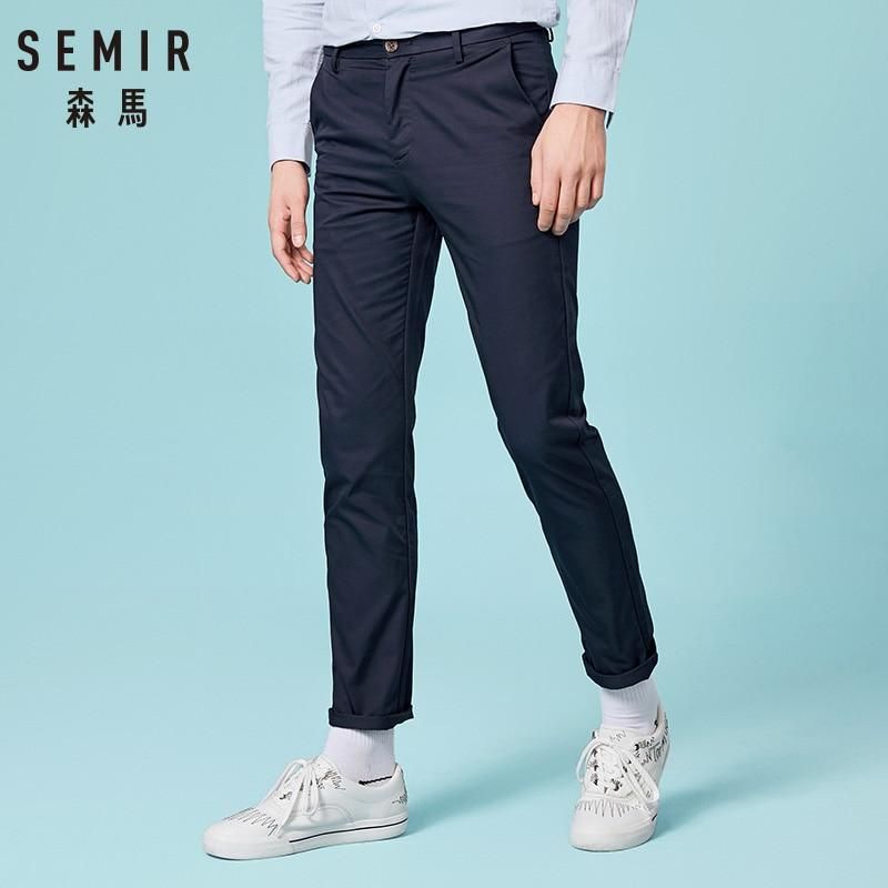 New Fashion Men Casual Pants Cotton Slim Fit Chinos Trousers