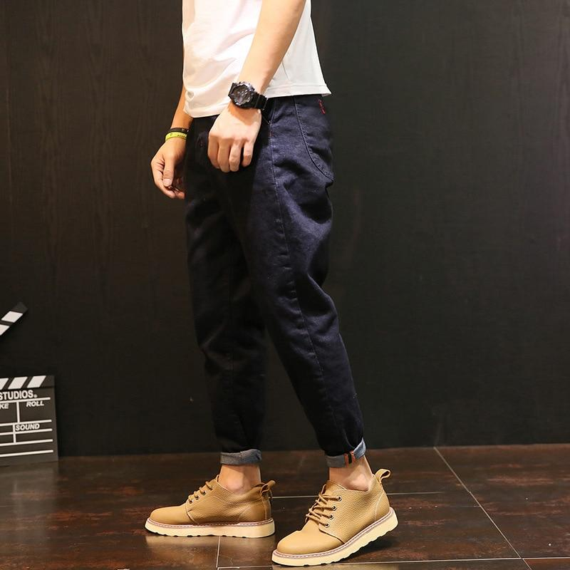 Top Brand Fashion Design Men Slim Fit Zipper Collapse Hip hop Jeans