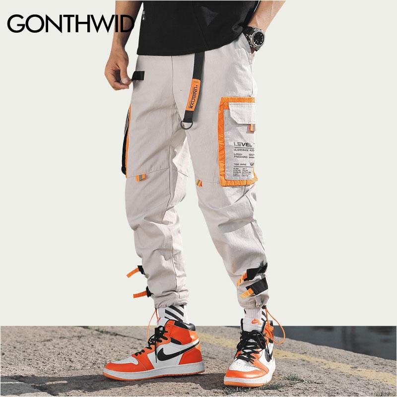 Multi Pockets Men Harem Jogger Pants Hip Hop Fashion Casual Streetwear Harajuku Hipster Sweatpants