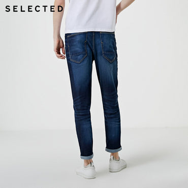 Men's Mid-rise Tight-leg Stretch Crop Jeans