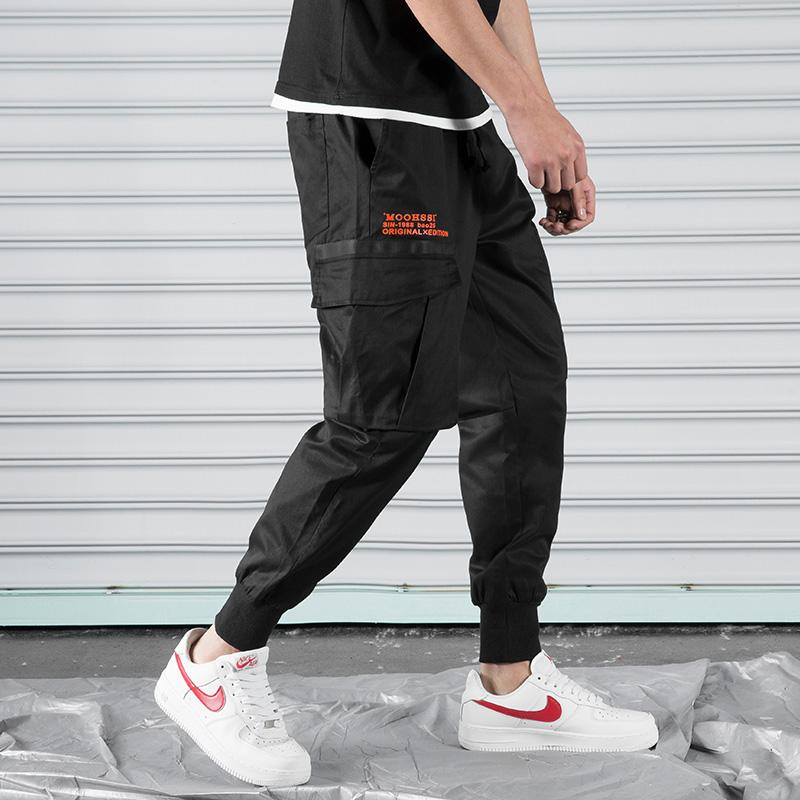 Hot men streetwear casual fashion cargo pants