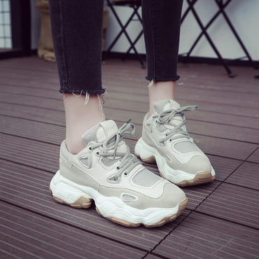 Best Seller Women Breathable Wedge Platform Chunky Sneakers