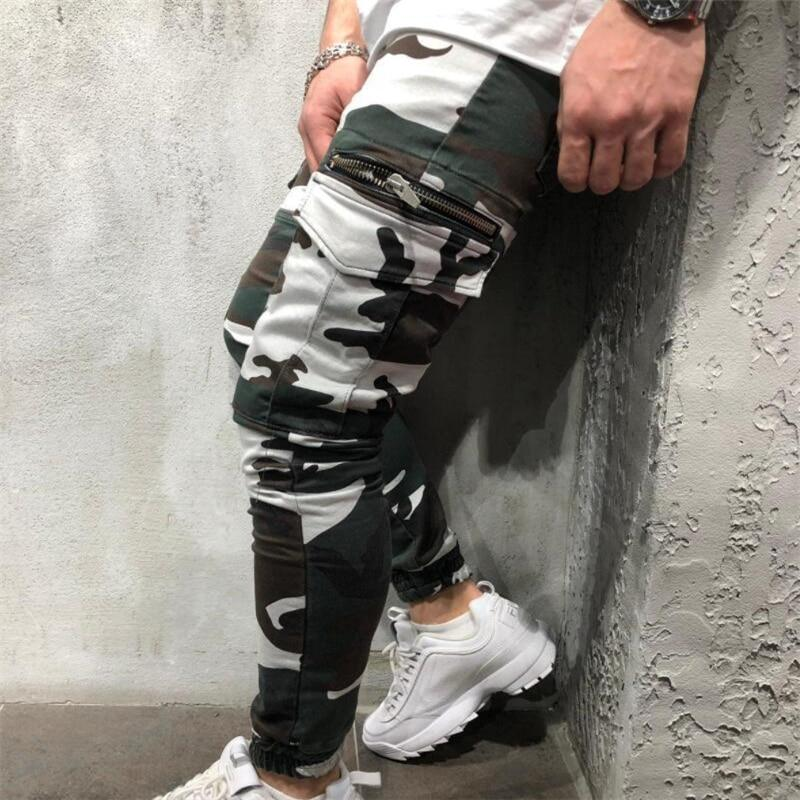 Men Sports Leggings Fitness camouflage Jogger  Pants