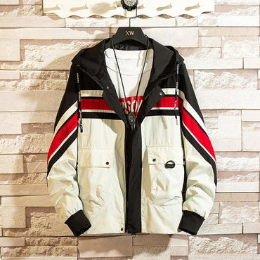 Men Bomber Jacket Fashion Trend Hip Hop Streetwear Baseball Jacket