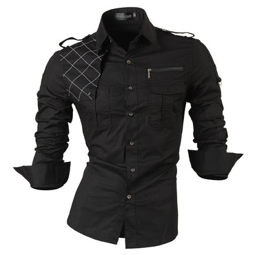Men Fashion Design Long Sleeve Slim Fit Shirt
