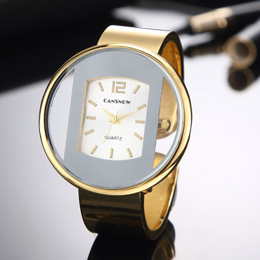 Fashion Gold Stainless Steel Women Bracelet Bangle Watches