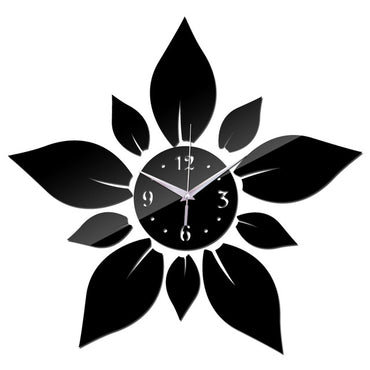 Flower Shape Modern Style Decorative Wall Quartz Clock