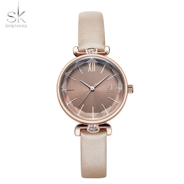 Elegant Design Women Leather Classic Casual Analog Quartz Watches