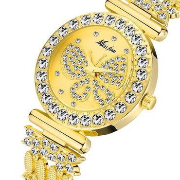 Butterfly Women Luxury Big Diamond  Special Bracelet Wrist Watch