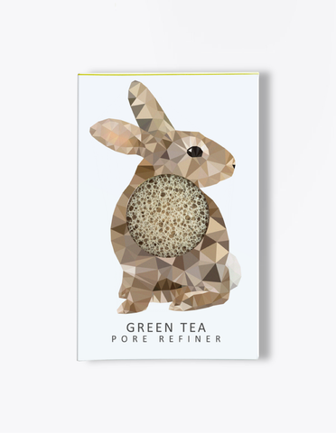 Konjac Mini Pore Refiner Woodland Rabbit Sponge - Green Tea