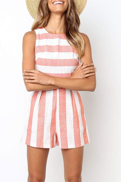 Casidress Casual Striped Romper(3 colors)