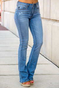 Casidress Flared Blue Jeans