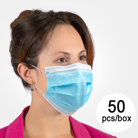 3-Layer Disposable Mask  (Pack of 50)