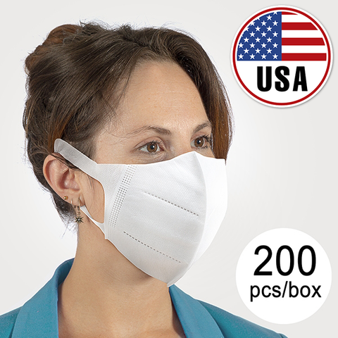 USA - KN95 MASKS (PACK of 200) - UPS FREE FAST DELIVERY