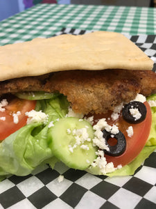 Greek Schnitzel Burger