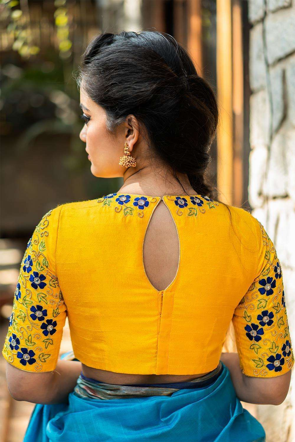Abbakka Devi - Hand embroidered blouse - House of Blouse