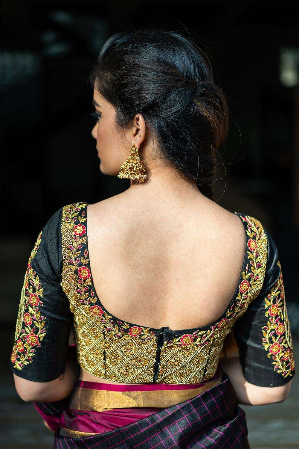 Avantibai - Hand embroidered blouse - House of Blouse