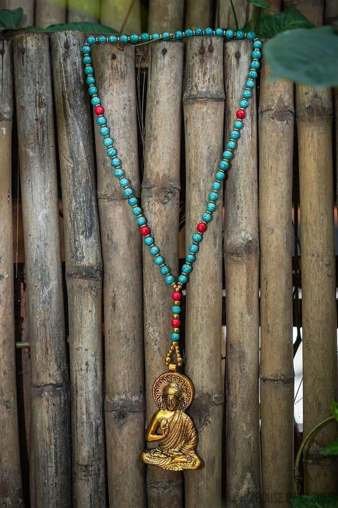 Buddha Tibetan Turquoise Beads Pendant Necklace - House of Blouse