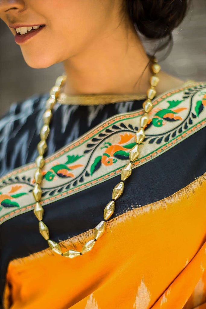 Gold Elaichi Mala Necklace