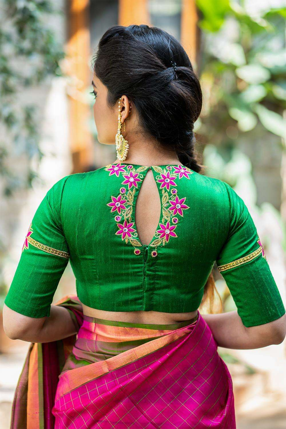 Jhansi - Hand embroidered blouse - House of Blouse