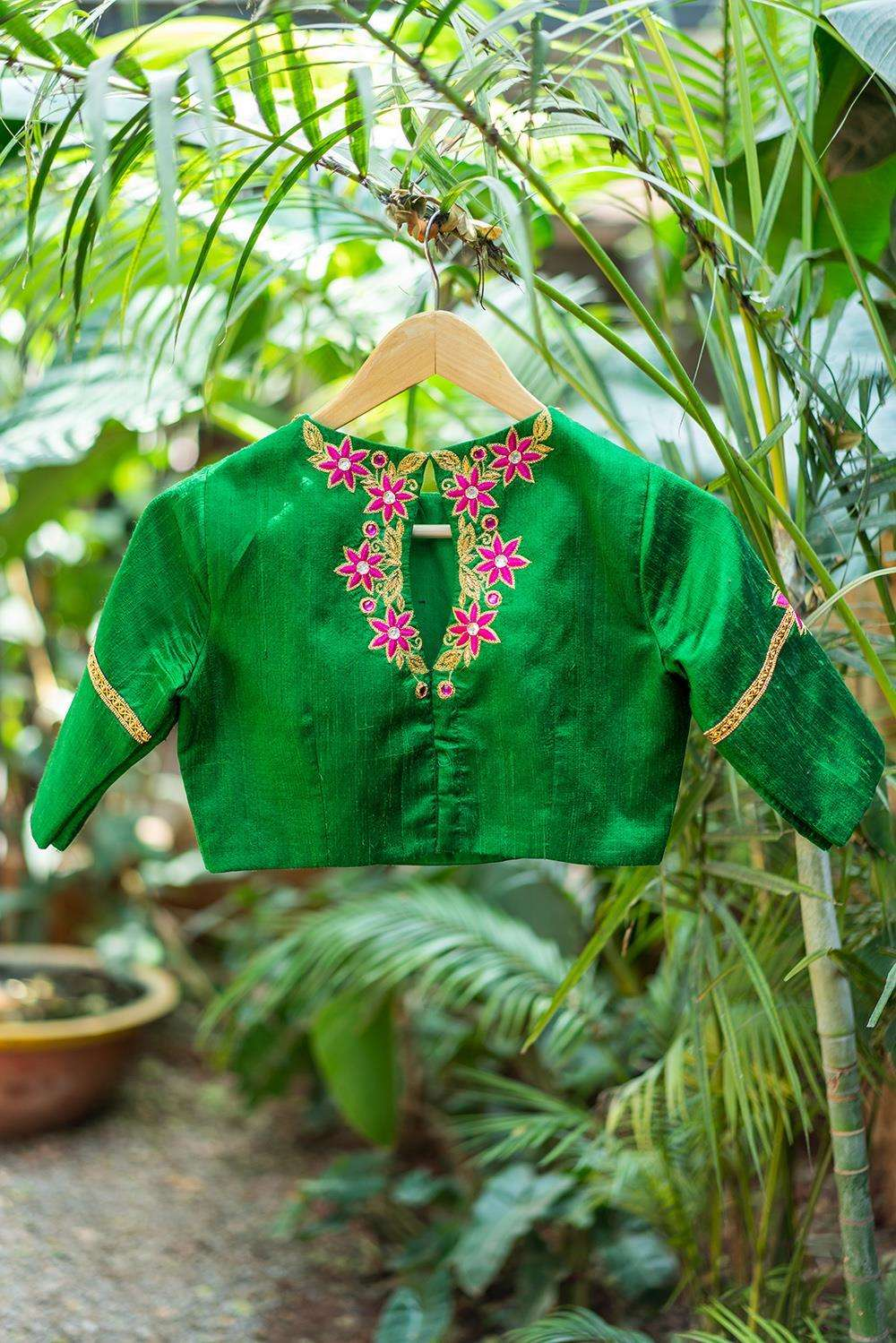 Jhansi - Hand embroidered blouse