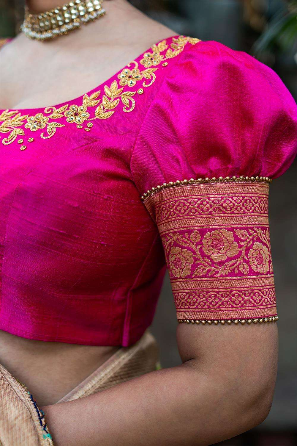 Jijabai - Hand embroidered blouse