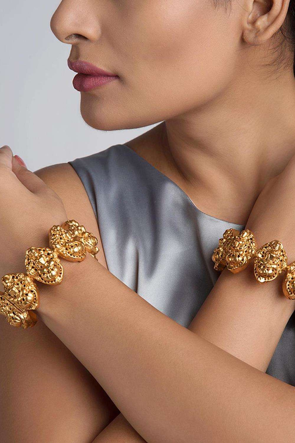 Lakshmi Temple Bangles - House of Blouse