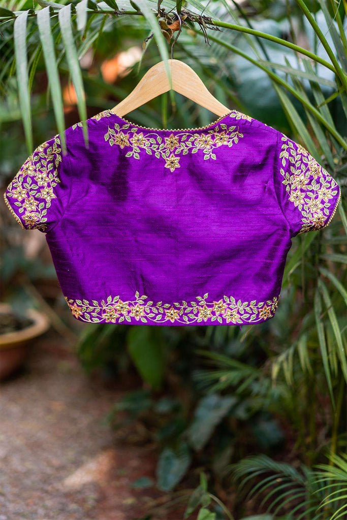 Lakshmibai - Hand embroidered blouse - House of Blouse