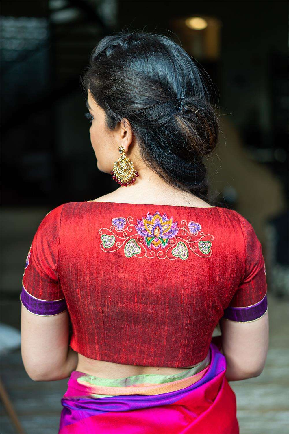 Rudrama Devi - Hand embroidered blouse