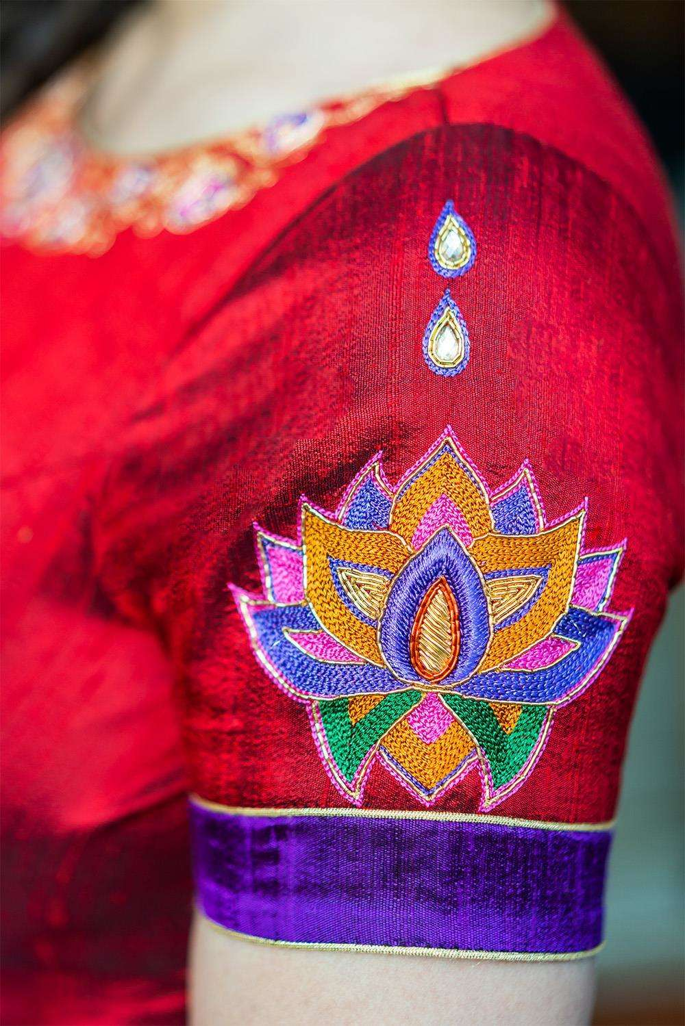 Rudrama Devi - Hand embroidered blouse - House of Blouse