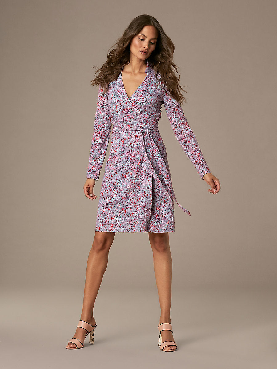 THE NEW JEANNE SILK JERSEY WRAP DRESS