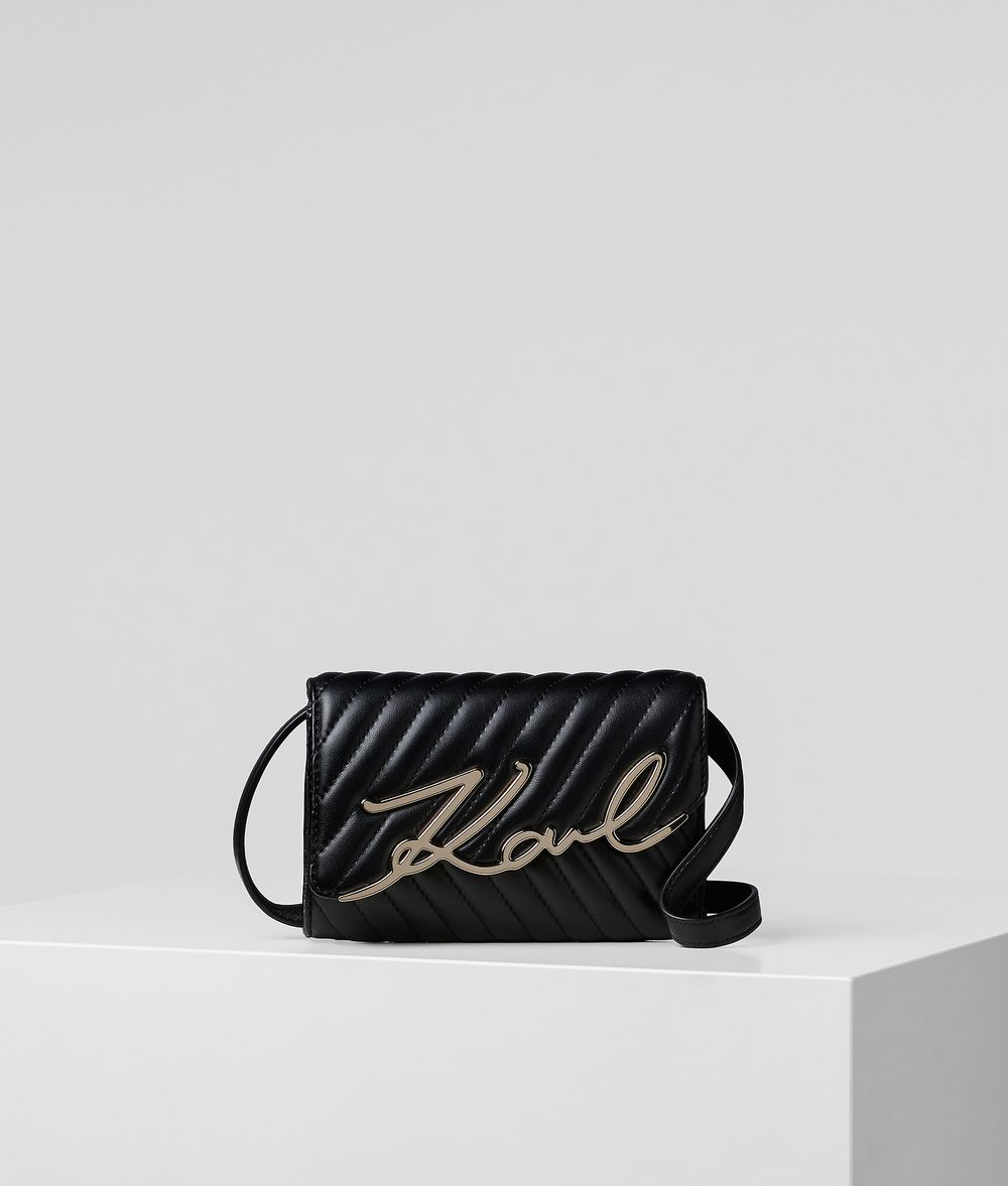 K/SIGNATURE STITCH WAIST BAG