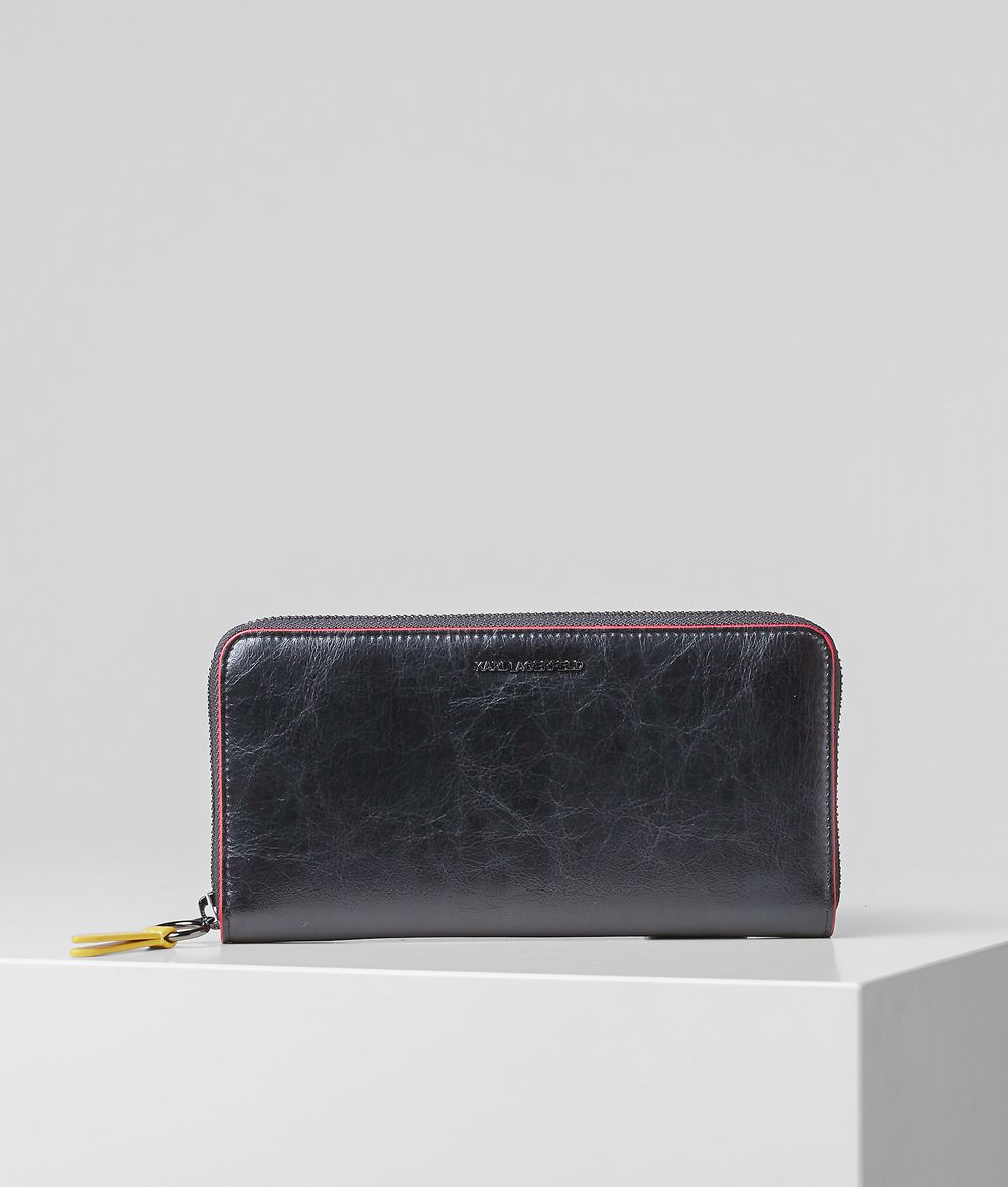 BAUHAUS CONTINENTAL ZIPPERED WALLET