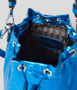 K/IKONIK METALLIC NYLON BUCKET BAG