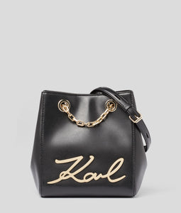 K/ SIGNATURE BUCKET BAG