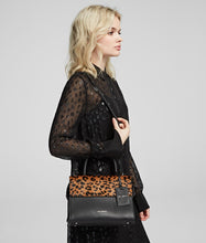 Load image into Gallery viewer, K/IKON SMALL LEOPARD TOP HANDLE BAG