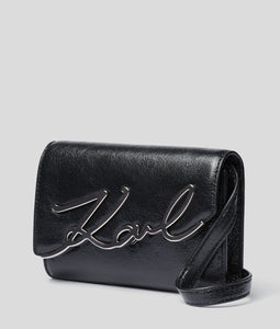 K/SIGNATURE METALLIC BELT BAG