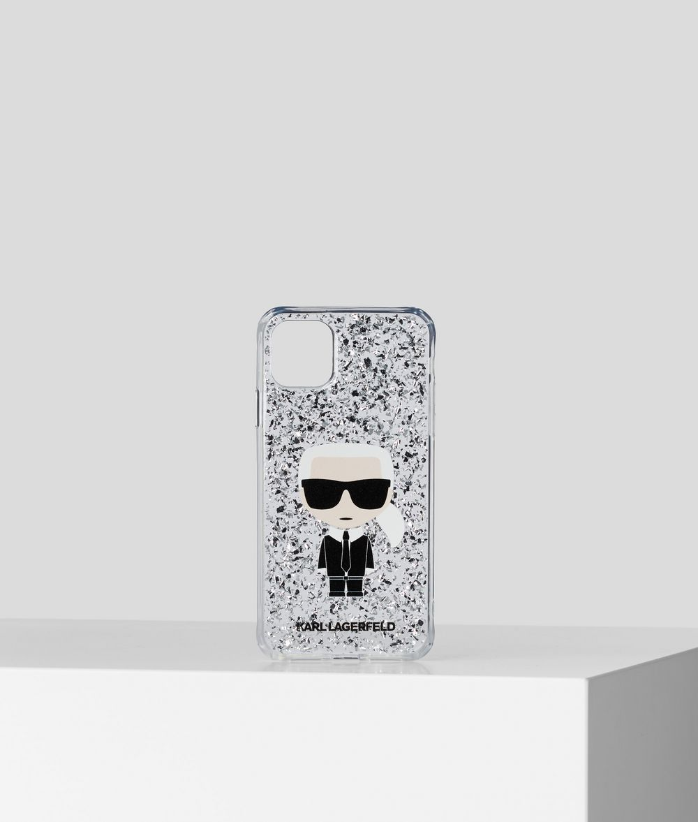KARL GLITTER FLAKES CASE IPHONE 11 PRO MAX