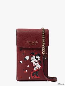 DISNEY X KATE SPADE NEW YORK MINNIE MOUSE NORTH SOUTH PHONE CROSSBODY