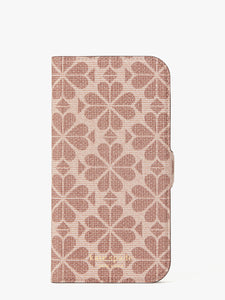 SPADE FLOWER COATED CANVAS IPHONE 12 PRO MAX MAGNETIC WRAP FOLIO CASE