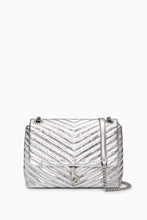 Load image into Gallery viewer, EDIE METALLIC FLAP SHOULDER BAG
