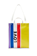 Load image into Gallery viewer, LOVE STRIPE MAGAZINE TOTE