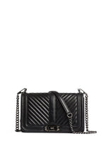 Load image into Gallery viewer, CHEVRON QUILTED LOVE CROSSBODY