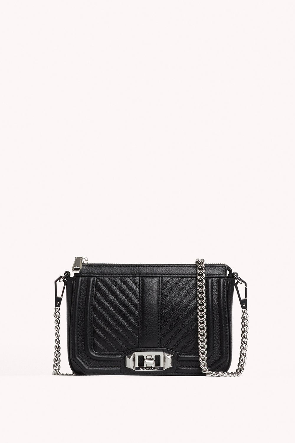 CHEVRON QUILTED MINI LOVE SHOULDER BAG