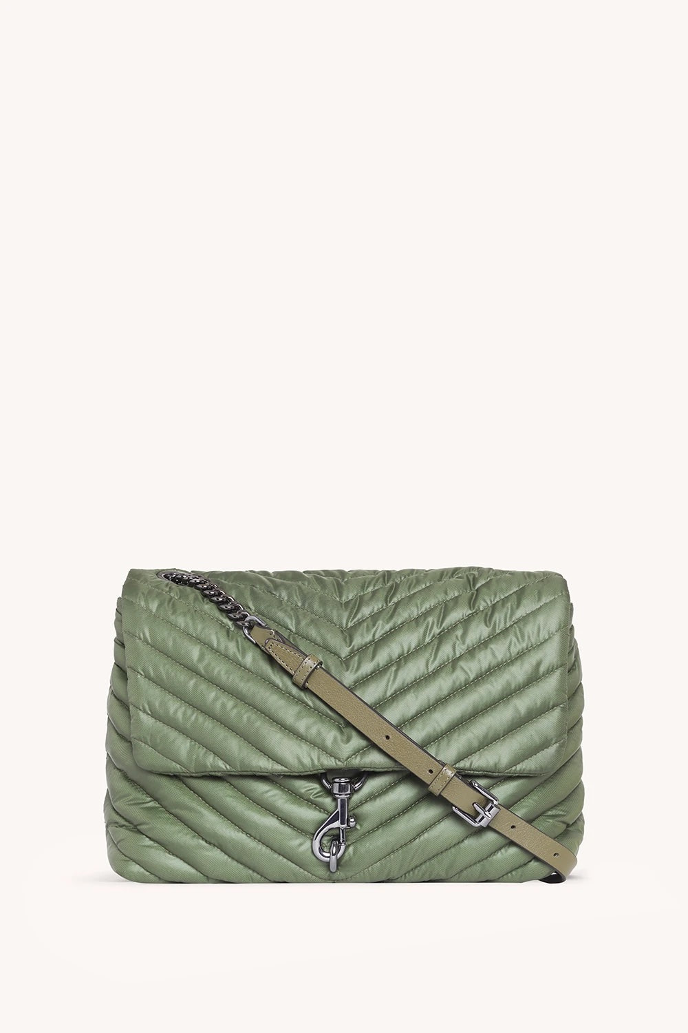 EDIE NYLON JUMBO FLAP SHOULDER BAG